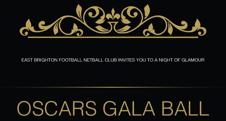 Sat 5th August – EBFNC presents the 2017 'Oscars' Gala Ball